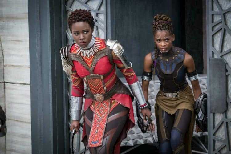 L to R: Nakia (Lupita Nyong'o) and Shuri (Letitia Wright) in Black Panther hoping a sequel comes in the next marvel movie lineup