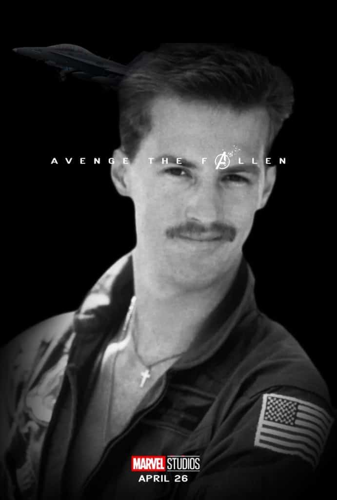 Goose from Top Gun Avenge the Fallen Meme