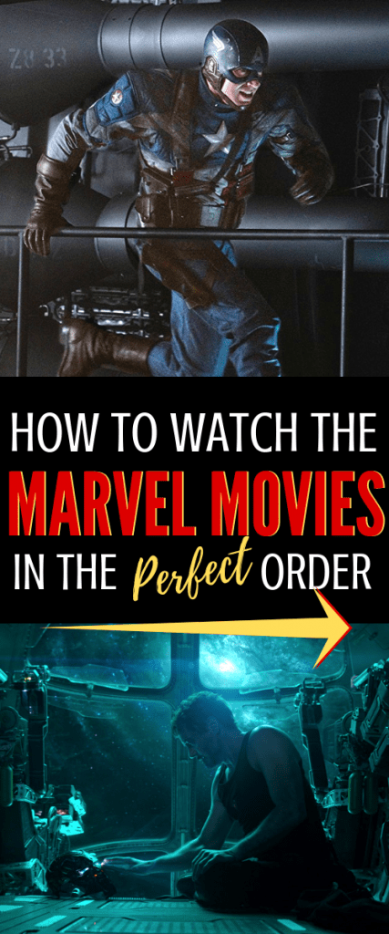Want the list of the best order to watch the Marvel Movies in 2019? Use this printable PDF movie list for your marvel movie marathon. #marvel #mcu