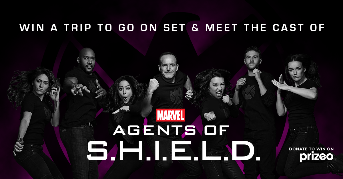 Meet the Agents of SHIELD on a set visit