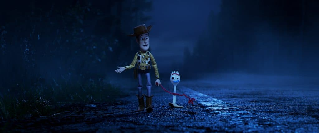 "Toy Story 4,"" Bonnie's beloved new craft-project-turned-toy, Forky, declares himself trash and not a toy"