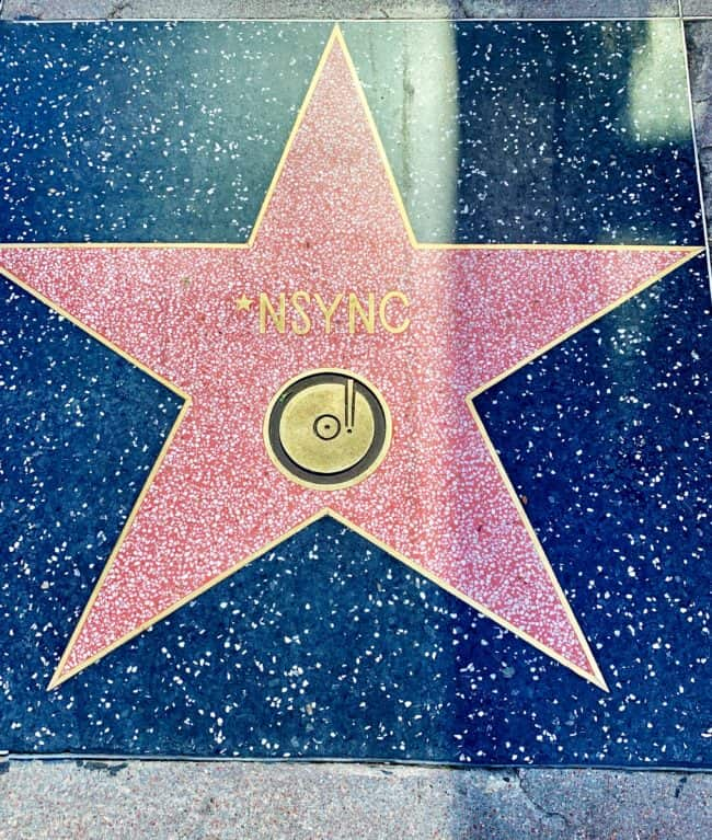 nsync star on the hollywood walk of fame