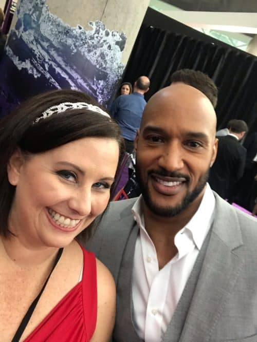 Henry Simmons Agents of Shield at Avengers Endgame red carpet