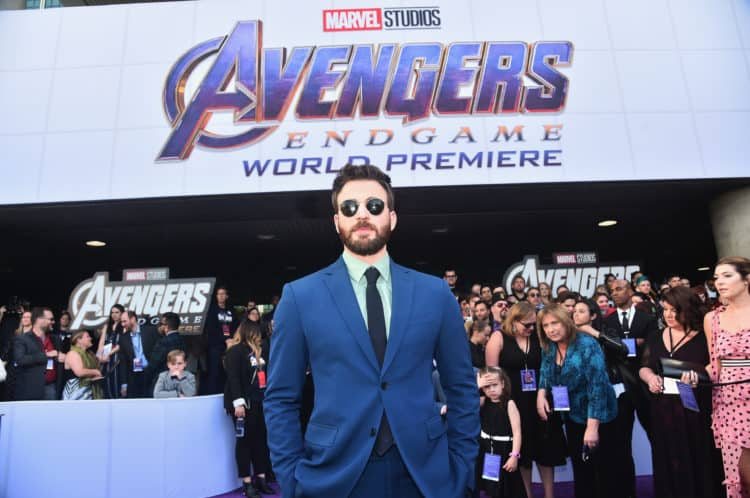 "Chris Evans attends the Los Angeles World Premiere of Marvel Studios' ""Avengers: Endgame"" at the Los Angeles Convention Center on April 23, 2019 in Los Angeles, California. (Photo by Alberto E. Rodriguez"