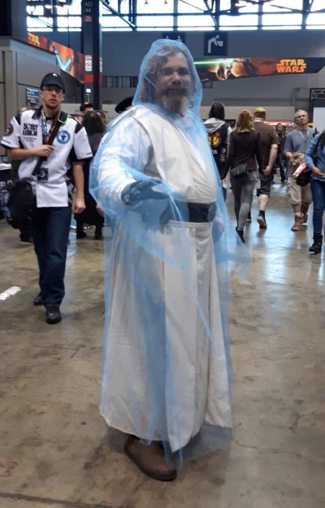 luke skywalker force ghost cosplay 2019 Star Wars Celebration recap