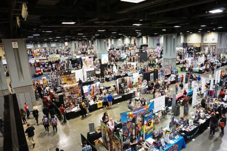 awesome con exhibit floor - professional cosplayers were there as well!