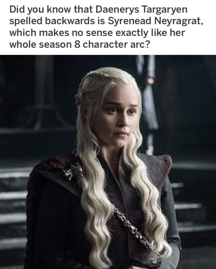 Game of Thrones Series Finale Memes Dany