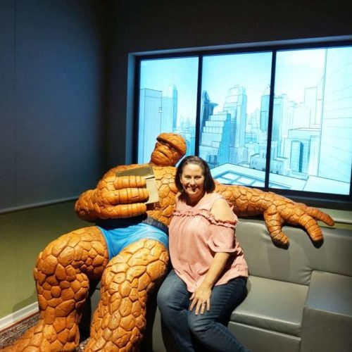 The Thing photo op at Marvel Universe of Super Heroes