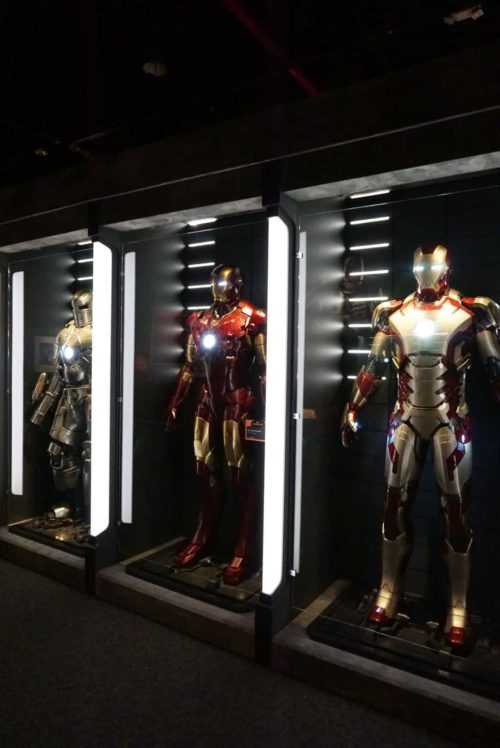 Iron Man Suits at Marvel Universe of Super Heroes