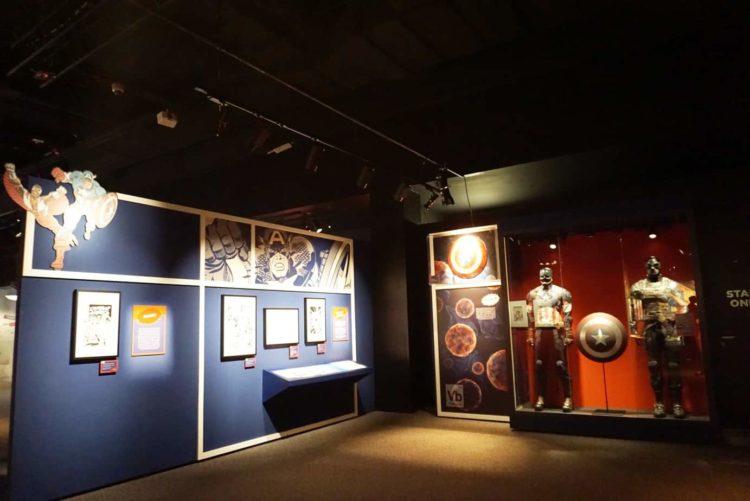 Captain America room at Franklin Institute Marvel Exhibit