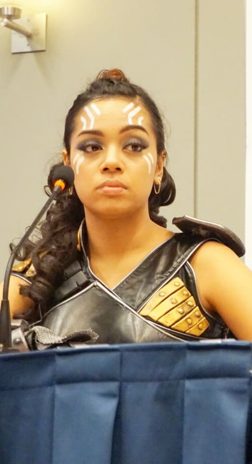 Valkyrie professional cosplayer at Awesome Con: Maweezy