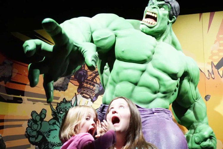 The Hulk Statue at Franklin Institute Marvel Exhibit