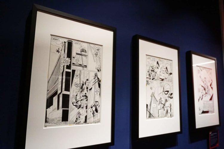 Spider-Man Comic artwork on display at Marvel Universe of Super Heros