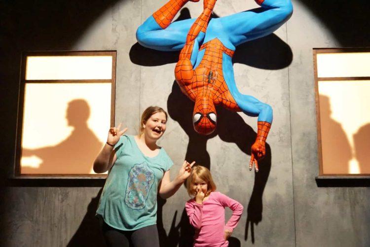 Spider-Man at Franklin Institute Marvel exhibit