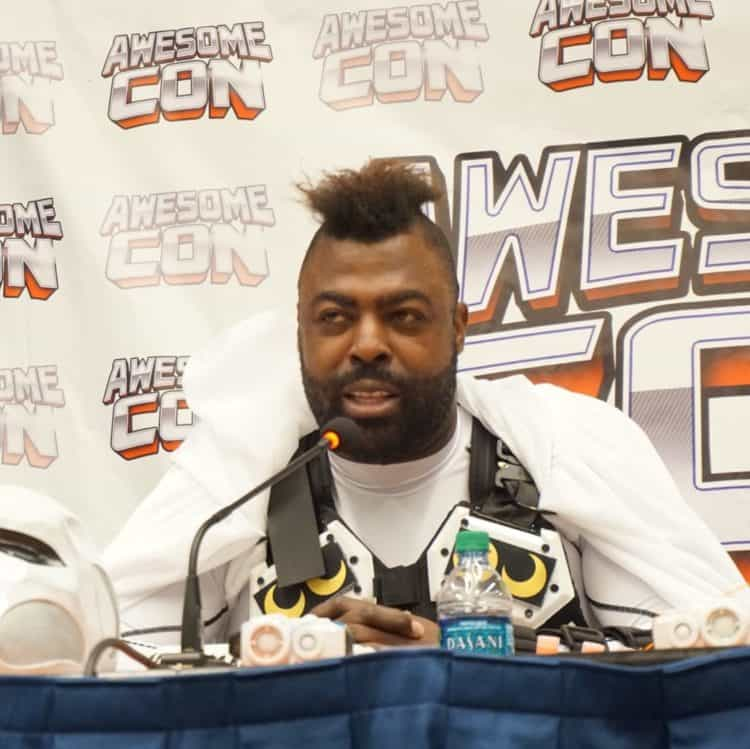 Professional cosplayer Mikal Mosley at Awesome-Con 2019
