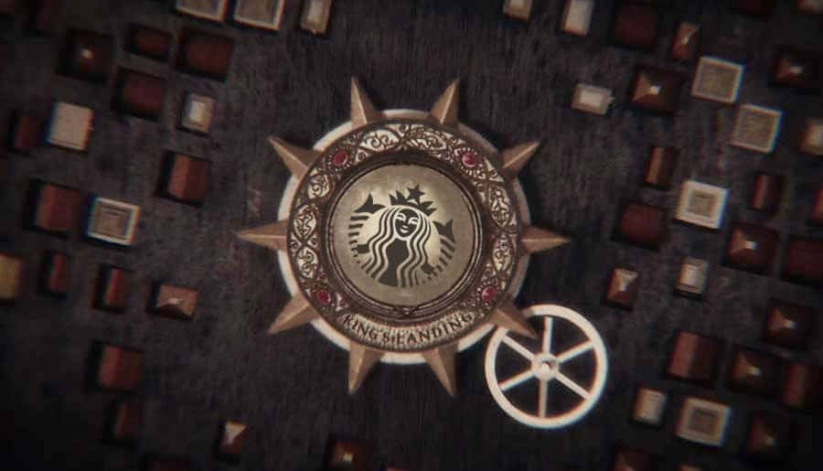 Starbucks cup game of thrones opening credits