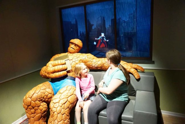 The Thing Couch Franklin Institute Marvel Universe of Super Heroes