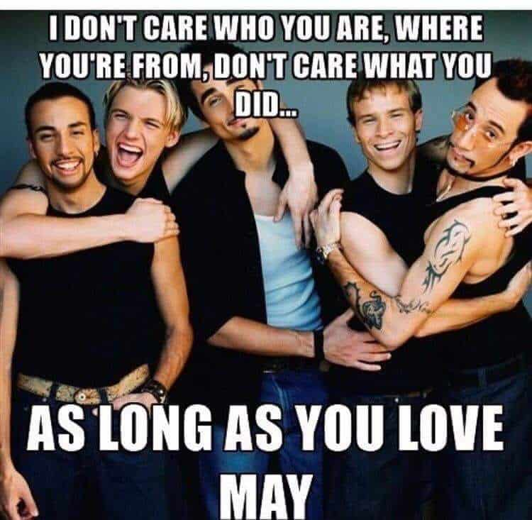 back street boys As long as you love me gonna be may meme