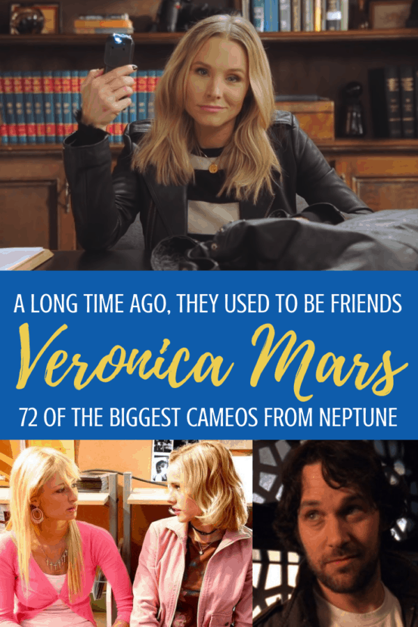 We love Veronica Mars- and all the guest stars you can find in Season 1, 2, and 3! Here's a list of 72 of the best cameos from Veronica Mars series and the movie. On Hulu this summer! #veronicamars #cameos