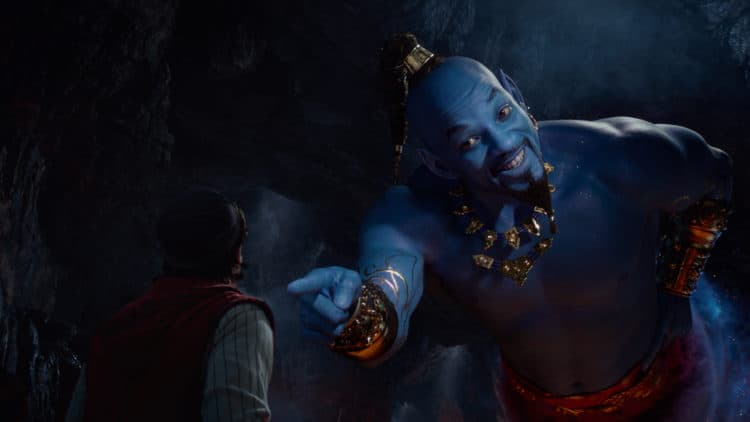 Aladdin (Mena Massoud) meets the larger-than-life blue Genie (Will Smith) Aladdin Parent Movie Review