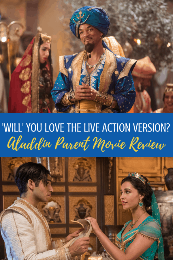 Aladdin Parent Movie Review: can you take the kids? And more importantly, when can you pee without missing a thing?! Disney's Aladdin starring Will Smith is a delight. #aladdin #parentmoviereview #noguiltfangirl