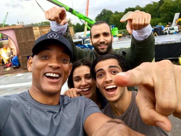 aladdin selfie from first day of shooting