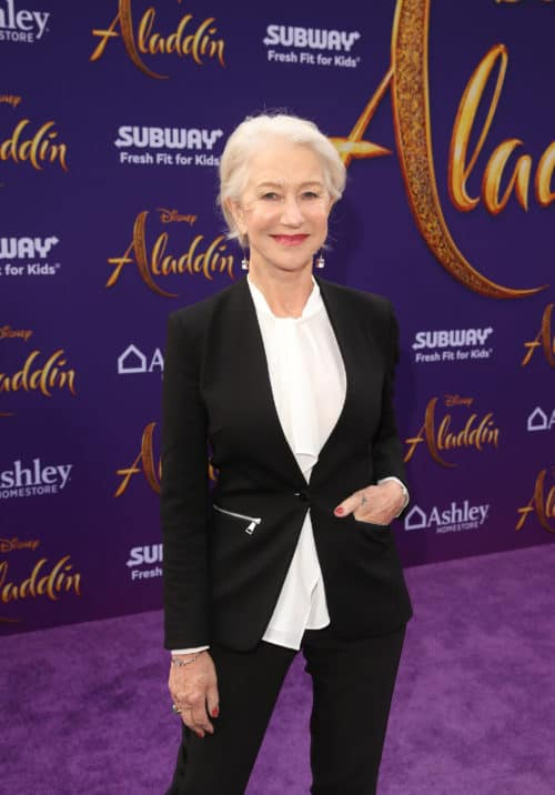 "Helen Mirren at the Aladdin Red Carpet World Premiere of Disney's ""Aladdin"" In Hollywood"
