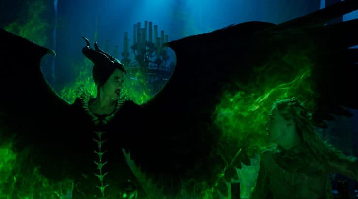 Angelina Jolie is Maleficent and Elle Fanning is Aurora in Disney's MALEFICENT: MISTRESS OF EVIL