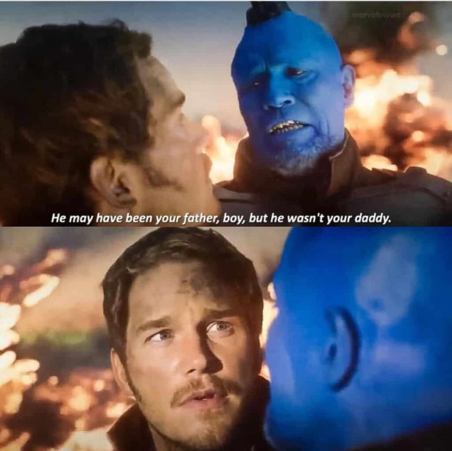 best marvel dads yondu and peter quill