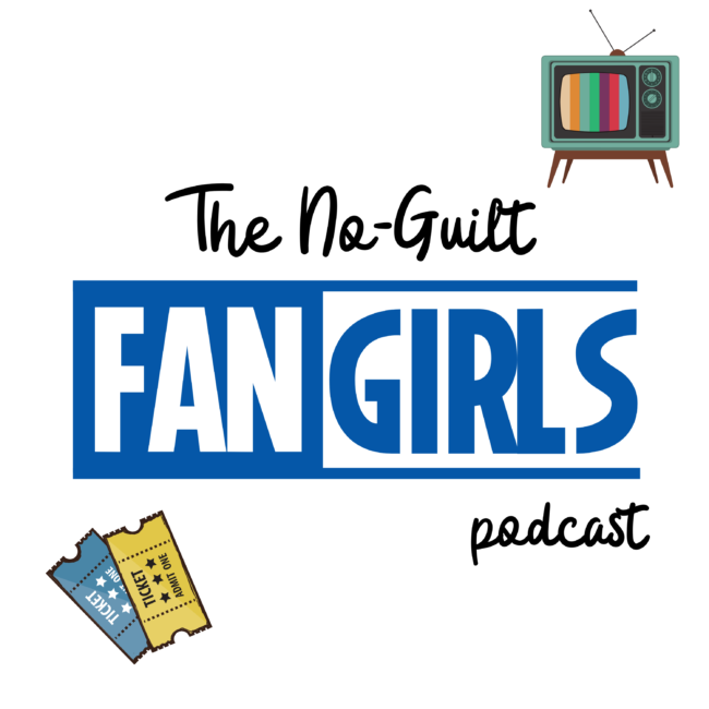 The No guilt fangirls podcast logo