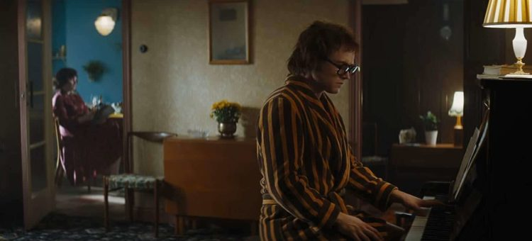 Bryce Dallas Howard and Taron Egerton in Rocketman parent movie review