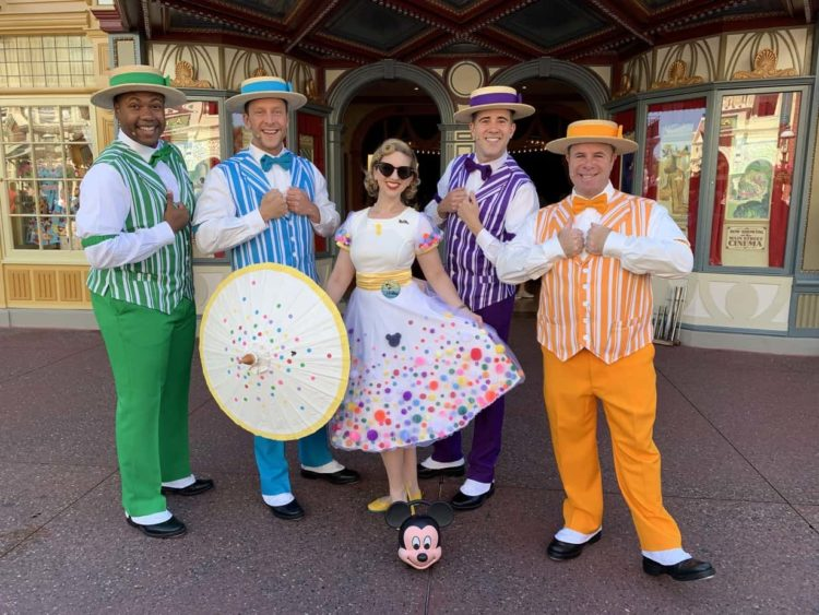 Lindsey Paris and the Dapper Dans on Main Street, USA