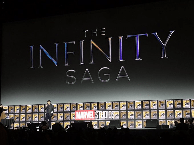 The Infinity Saga Logo announced at Marvel Panel San Diego Comic Con