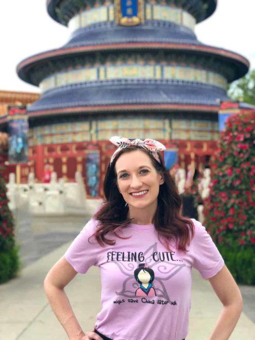 Theresa Mabe in China Pavilion at Epcot