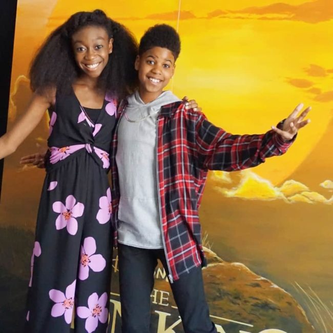 Shahadi Wright Joseph and JD McCrary stars of The Lion King Interview in DC
