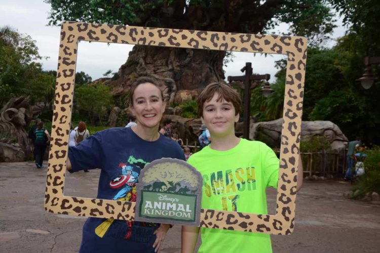 Amy Albers in Animal Kingdom Park