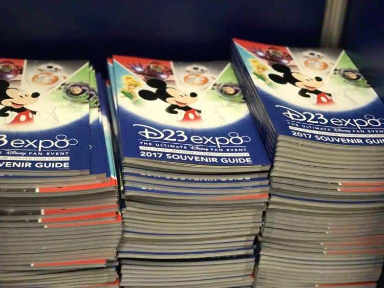 d23 expo schedule books from 2017