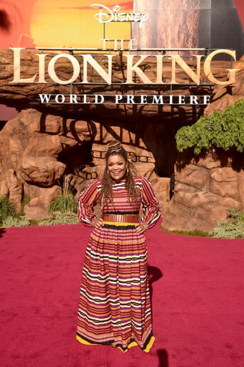 Lion King Red Carpet HOLLYWOOD, CALIFORNIA Yvette Nicole Brown