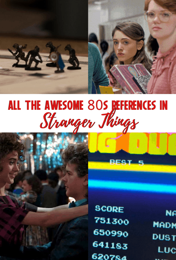 All the awesome 80s references in Stranger Things: so many throwbacks from fashion to hair to music to games! #strangerthings #1980s #fashion