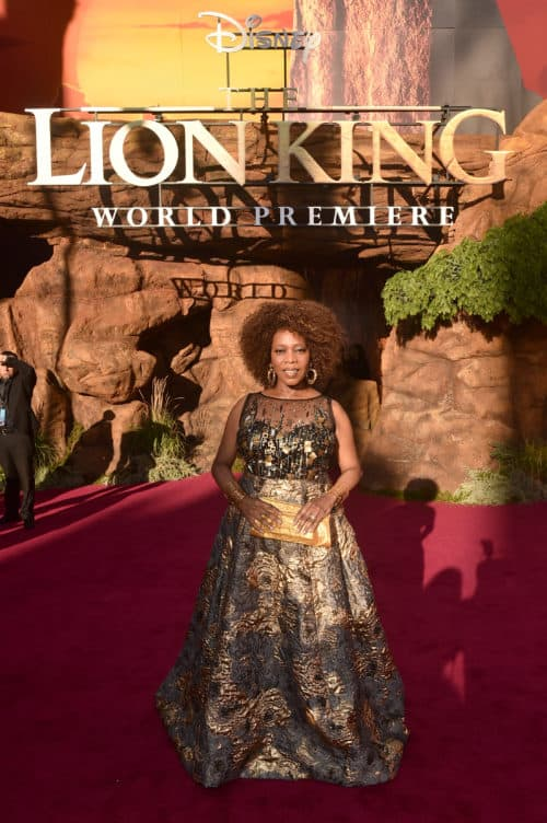 Alfrie Woodard Lion King Red Carpet Premiere