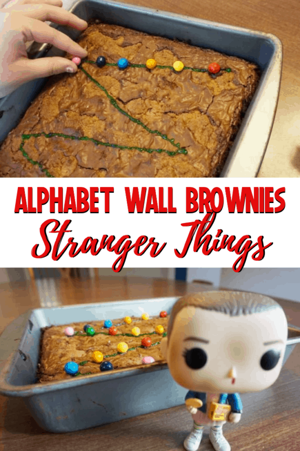 Stranger Things Alphabet Wall Brownies: perfect for your Netflix Stranger Things 3 binge! #strangerthings #netflix #brownierecipes