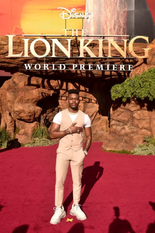 Aubrey Joseph Lion King Red Carpet