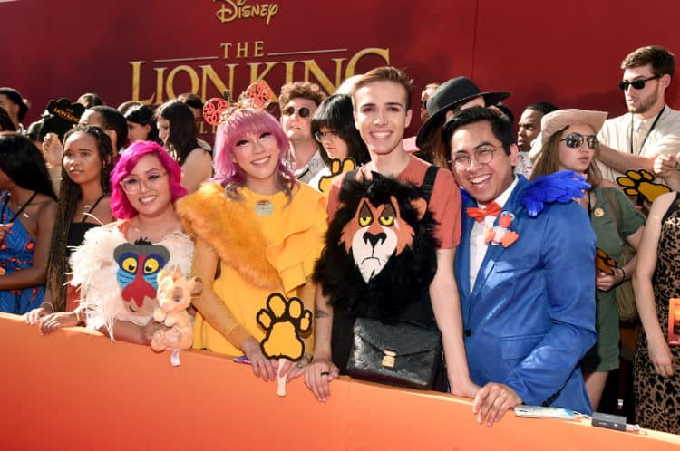 "The World Premiere Of Disney's ""THE LION KING"" Lion King Red Carpet"