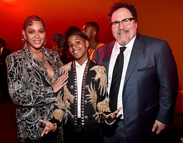 "The World Premiere Of Disney's ""THE LION KING"" Beyonce Knowles-Carter, JD McCrary and Director/producer Jon Favreau"