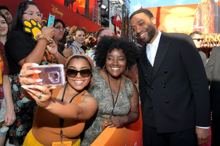 HOLLYWOOD, CALIFORNIA Lion King Red Carpet Chiwetel Ejiofor