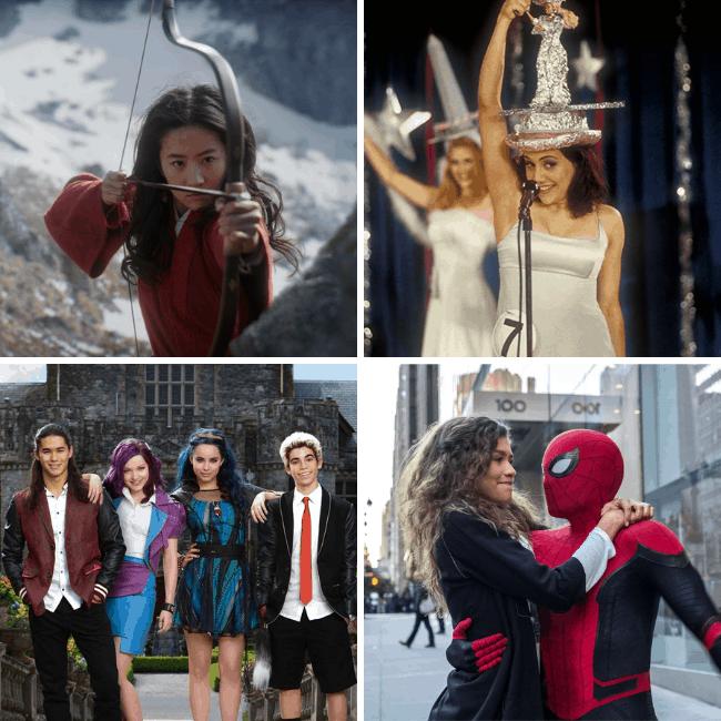 no-guilt fangirls podcast monday movies mulan, drop dead gorgeous, spider-man, Descendants 3