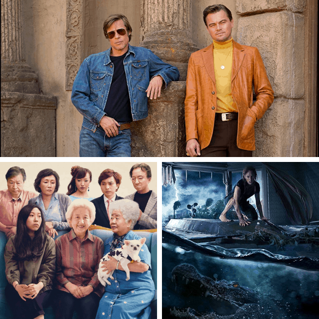 Once Upon a time in hollywood, The FArewell, Crawl parent movie review podcast