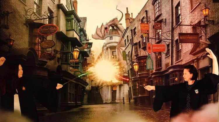Wizard dueling Harry Potter list of spells
