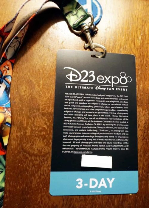 D23 Expo Badge activation code