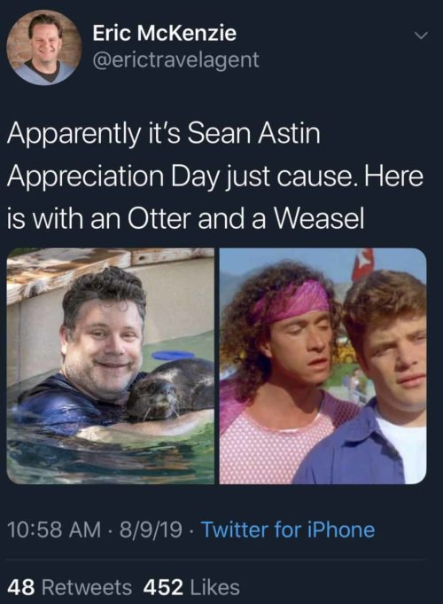 Sean Astin Encino Man Tweet